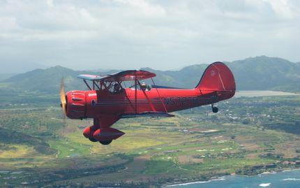 Vintage Biplane Flight over Kauai