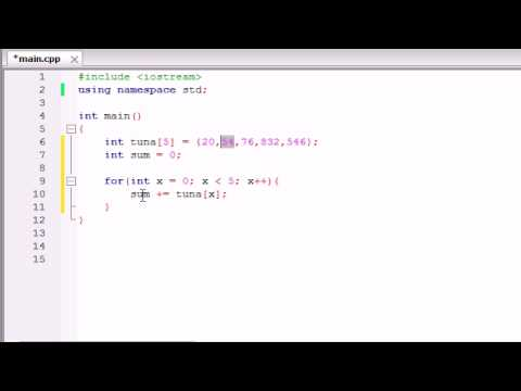 Buckys C++ Programming Tutorials - 34 - Using Arrays in Calculations