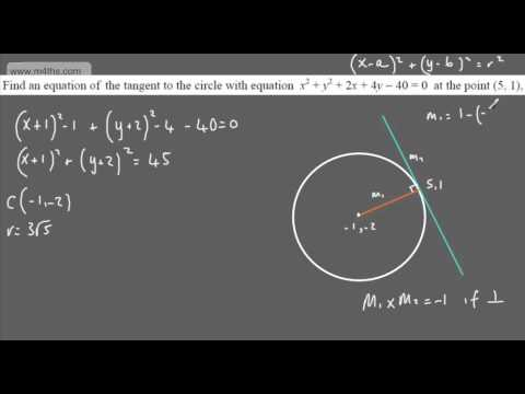 (8) C2 Equation of a Circle (Equation of a tangent) Core 2 AQA or Edexcel