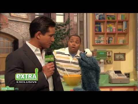 """Sesame Street: Mario Lopez and Cookie Monster in """"Me Am What Me Am"""""""