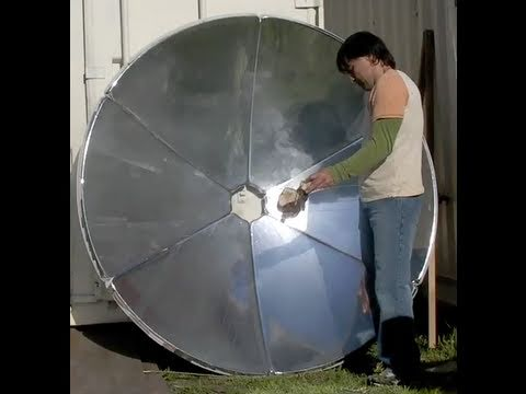 "70"" SOLAR SATELLITE DISH COOKER parabolic mirror DIY MATERIAL Natural Solar Dog Food"