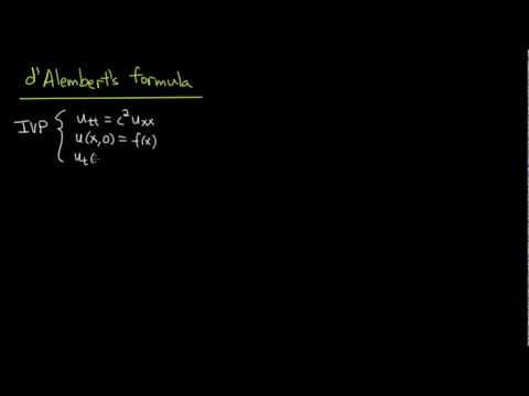 PDE 10   Wave equation: d'Alembert's formula