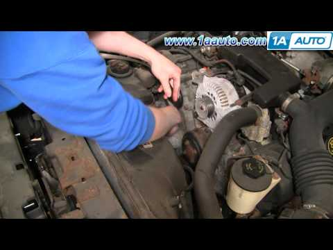 How to Install Repair Replace Engine Fan Serpentine Belt Lincoln Town Car 4.6L 00-02 1AAuto.com