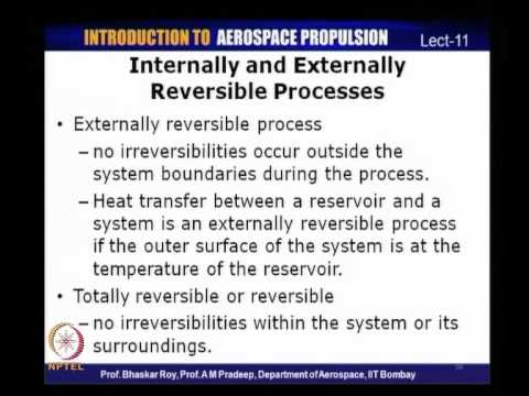 Mod-01 Lec-11 Reversible and irreversible processes, concept of entropy