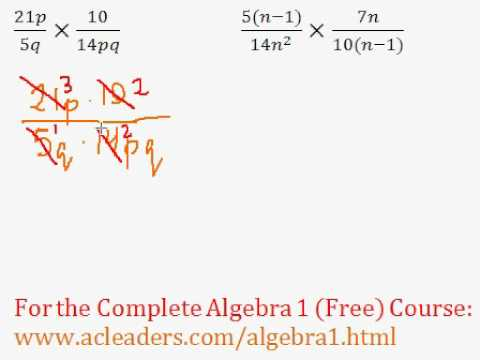 (Algebra 1) Rational Expressions - Multiplying #3-4