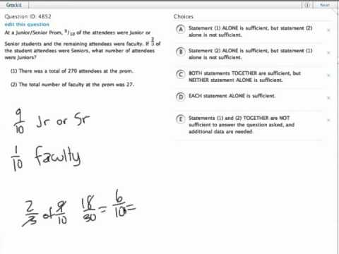 Grockit GMAT Quantitative - Data Sufficiency: Question 4852