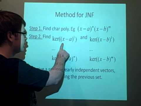 Jordan Normal Form - Method