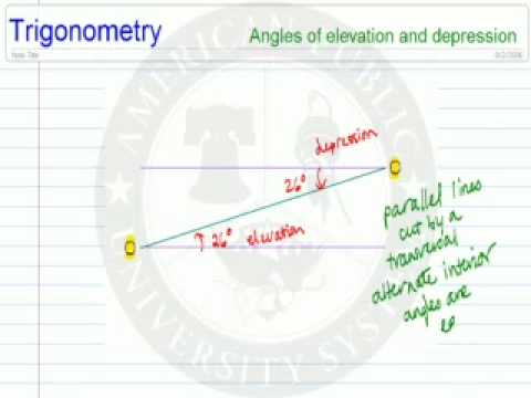 Angles of Elevation and Depression in Diagrams