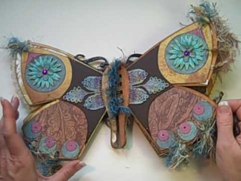 Butterfly mini scrapbook album