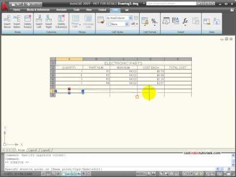 AtuoCAD Tutorial - Using Data Tables