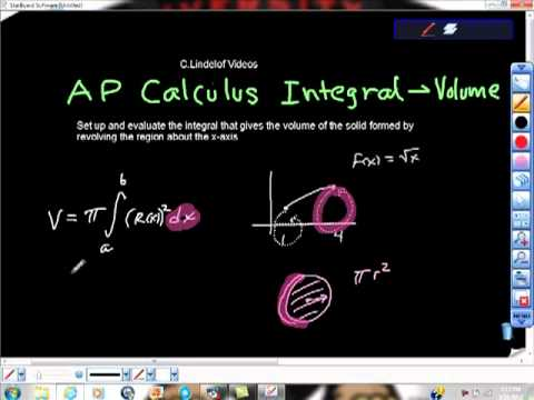 Ap Calculus AB Integration Volume Disk Method
