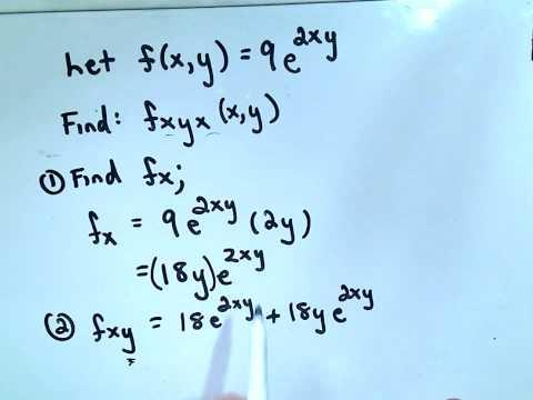 Calculus: Higher Order Partial Derivatives