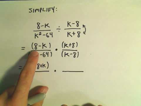 Rational Expressions:  Multiplying and Dividing.  Ex 1
