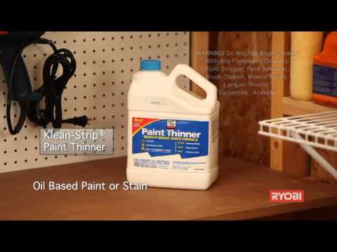 Ryobi Electric Paint Brush Cleaner - The Home Depot
