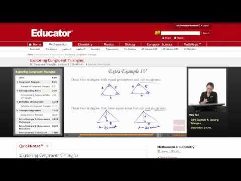 Geometry: Exploring Congruent Triangles