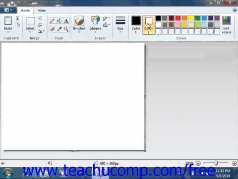 Windows 7 Tutorial Drawing Shapes and Lines Microsoft Training Lesson 5.2