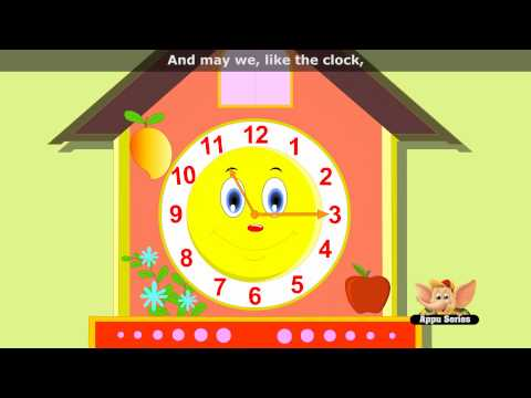 The Clock - Nursery Rhyme with Lyrics & Sing Along