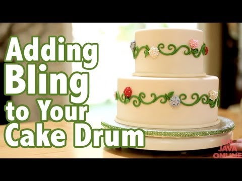 How to add Bling to your Cake Drums | Cake Tutorials