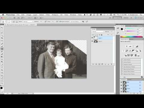 InfiniteSkills | Restoring Old Photographs | Photoshop Tutorial