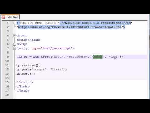 Beginner JavaScript Tutorial - 32 - reverse, push, sort
