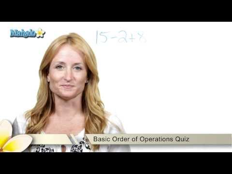 Basic Order of Operations Quiz