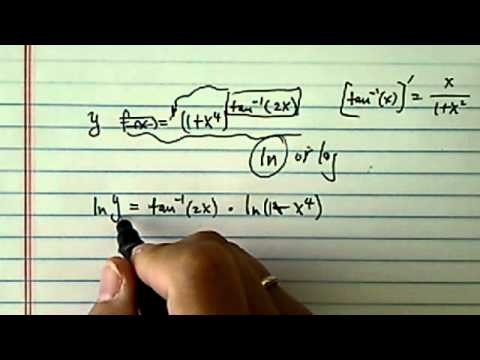 how to find derivative using chain rule?? (using logarithm)