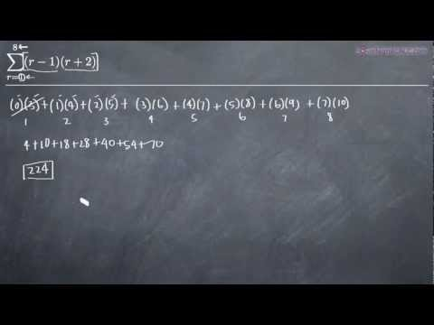 Summation Notation - Finding the Sum