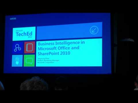 Microsoft Office and SharePoint BI at TechEd 2012