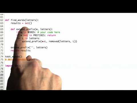 Extend Prefix Solution - CS212 Unit 6 - Udacity