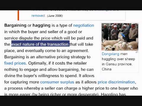 Learn English Reading Lesson #8 Bargaining