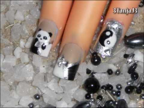 Asian Themed: *YinYang + Panda* Nail Art Design Tutorial