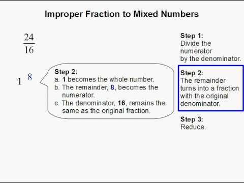 How to Convert an Improper Fraction to Mixed Numbers