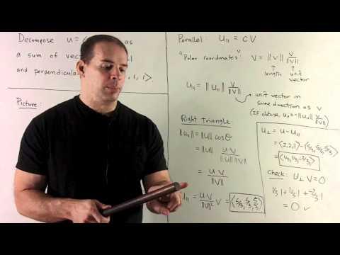 Vector Decomposition of (2,2,1) Along (1,1,1)