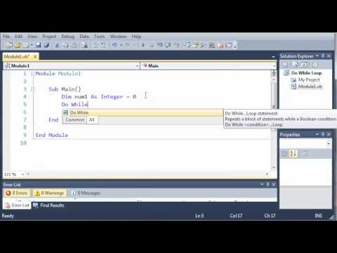 Visual Basic Tutorial - 31 - Do While Loop