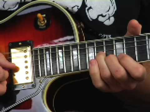 Electric blues lead guitar lesson licks Gary Moore style