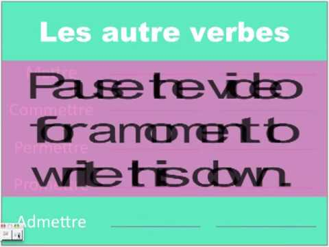Le Passe Compose Irregulier by Josephine and Keith