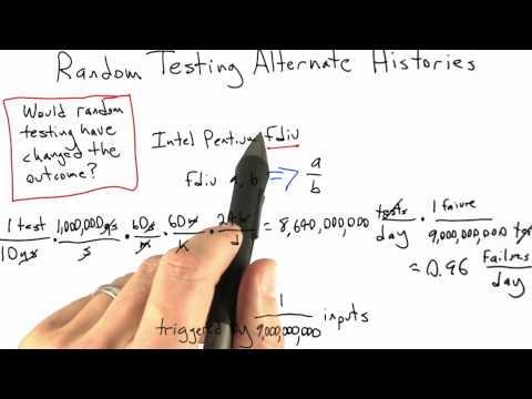 fdiv - Software Testing - Random Testing - Udacity