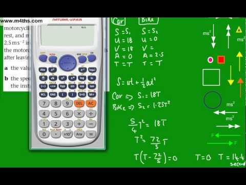 (3) M1 Mechanics Revision Topics - More basic SUVAT problems