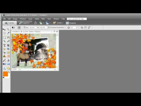 Training for Adobe Photoshop Elements 5  Ch 2 L6 Changing the Background, Adding Graphics & Saving