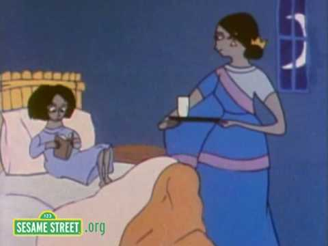 Sesame Street: Mothers Tucks Children Into Bed