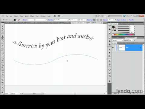 Illustrator: How to create text on a path | lynda.com