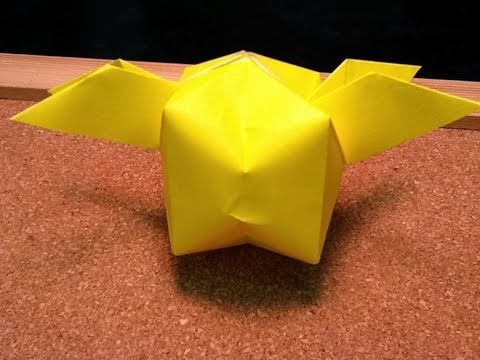 Daily Origami: 406 - Golden Snitch (Harry Potter)