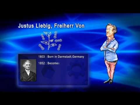 Top 100 Greatest Scientist in History For Kids(Preschool) - JUSTUS LIEBIG, FREIHERR VON