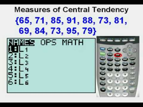 Measures of Central Tendency Graphing Calculator