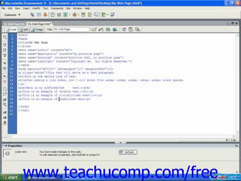 HTML Tutorial Underlining Training Lesson 4.3