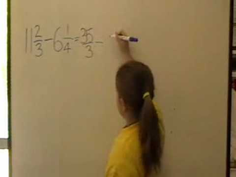 Mr Ds Maths Class subtracting mixed numbers