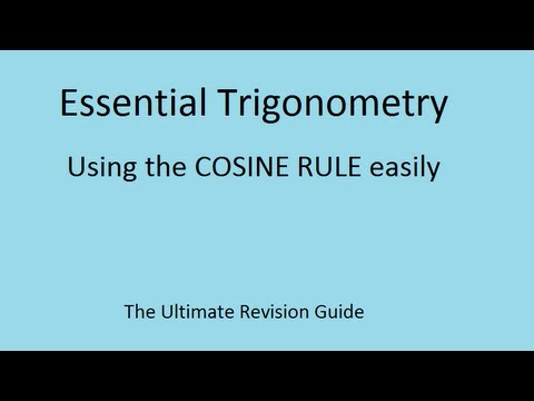 The trick to understanding the Cosine Rule - GCSE and AS Maths revision