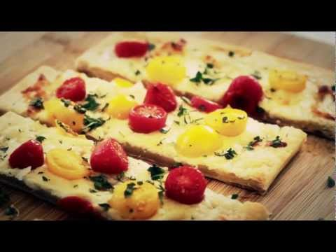 Cherry Tomato Tart Appetizer Recipe Make It (How To) || KIN EATS
