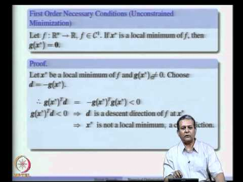 Mod-06 Lec-10 Multi Dimensional Optimization - Optimality Conditions, Conceptual Algorithm