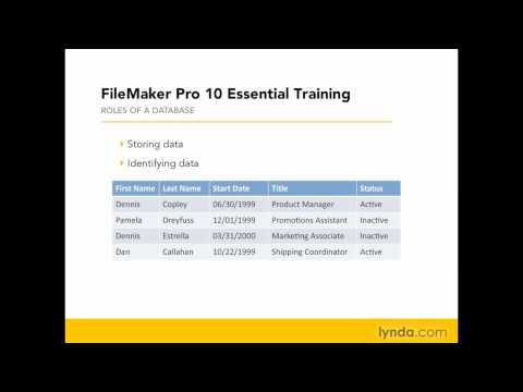 FileMaker Pro: What is a database? | lynda.com overview
